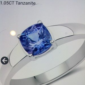 Women's ring Tanzanite size 7 over sterling silver
